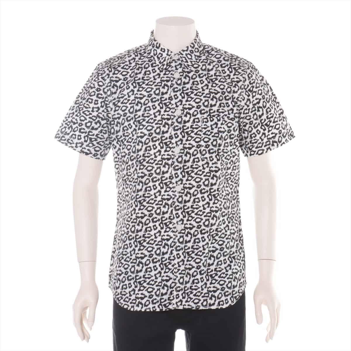 中古 コムデギャルソンオムプリュス コットン シャツ 最安値挑戦 メンズ ブラック×ホワイト M 供え