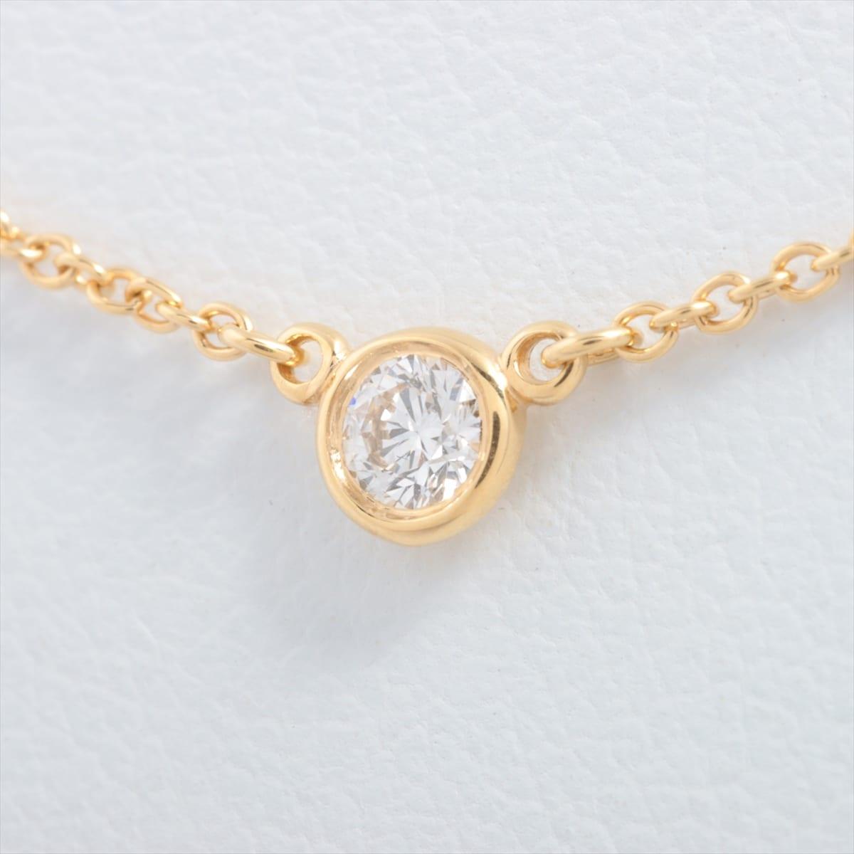 中古 ティファニー Tiffany 至高 Co. バイザヤード 正規店 750YG ダイヤモンド ネックレス
