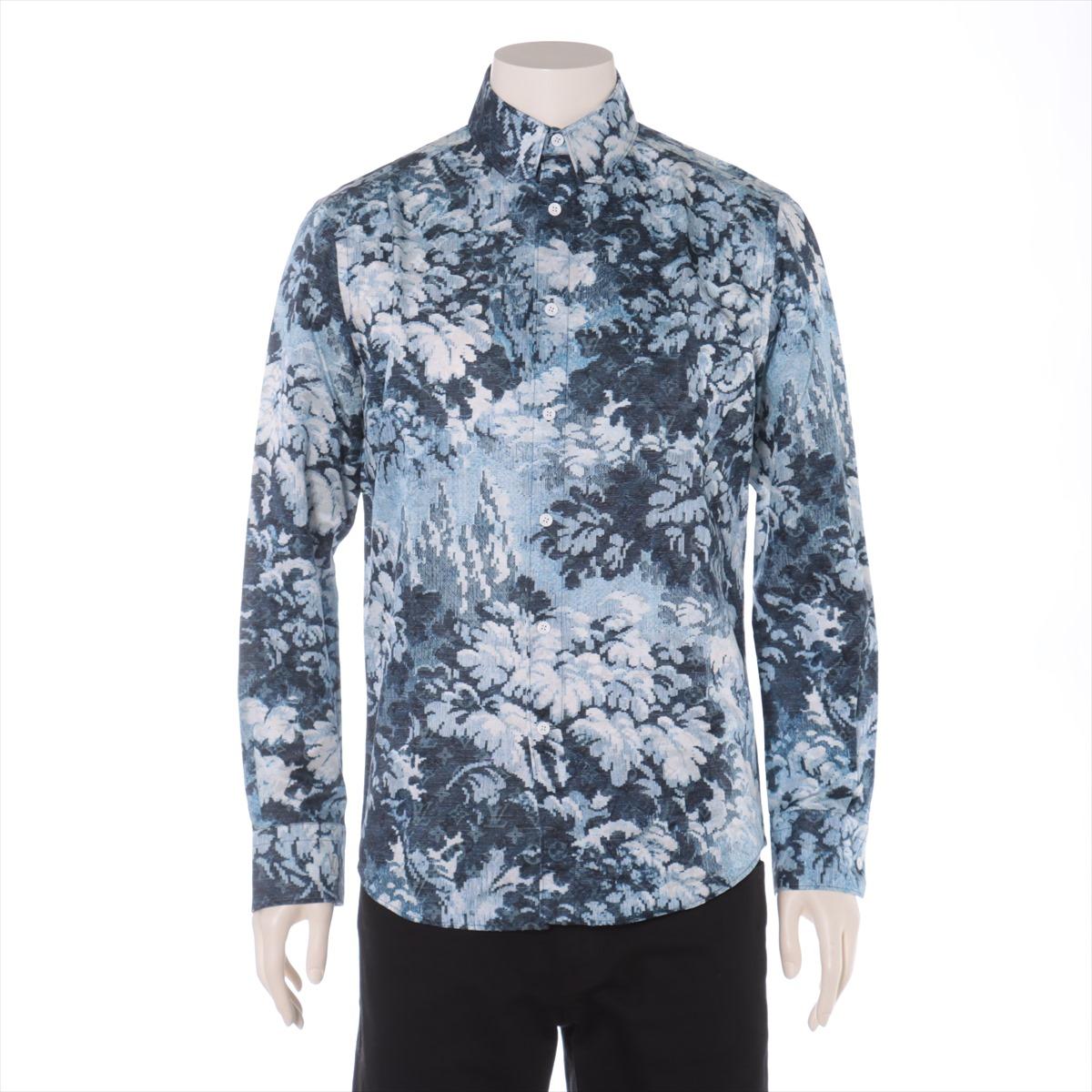 【中古】ヴィトン RM211M コットン シャツ XS メンズ ブルー