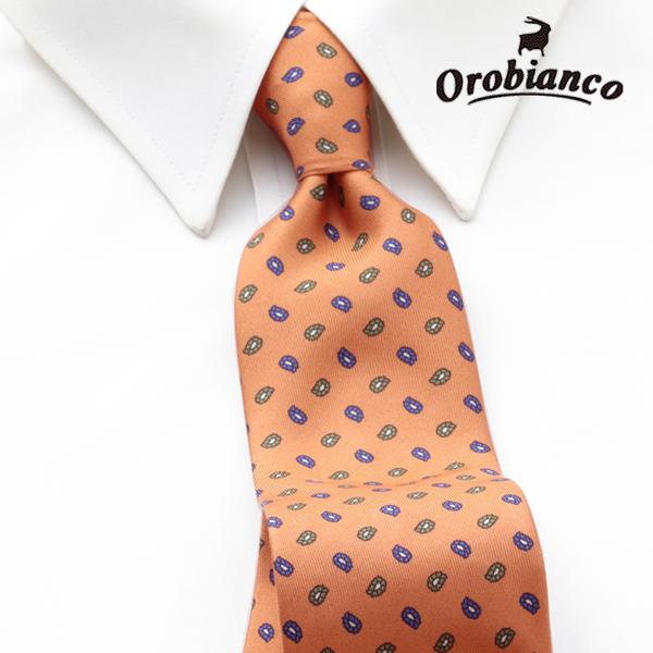 [オロビアンコルニーク]OROBIANCO L'UNIQUE ネクタイ OBJ-041 【あす楽対応_関東】