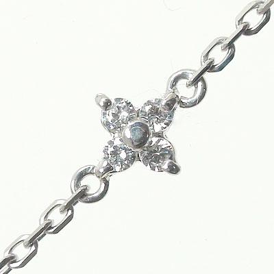5月16日1時まで ブレスレット ダイヤモンド プラチナ フラワー 花 レディース ユニセックス 誕生日 2017 記念日 母の日 プレゼント【送料無料】 買いまわり 買い回り