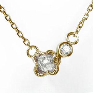 誕生石 ブレスレット ダイヤモンド 10金 華 フラワー 花 カラーストーン【送料無料】
