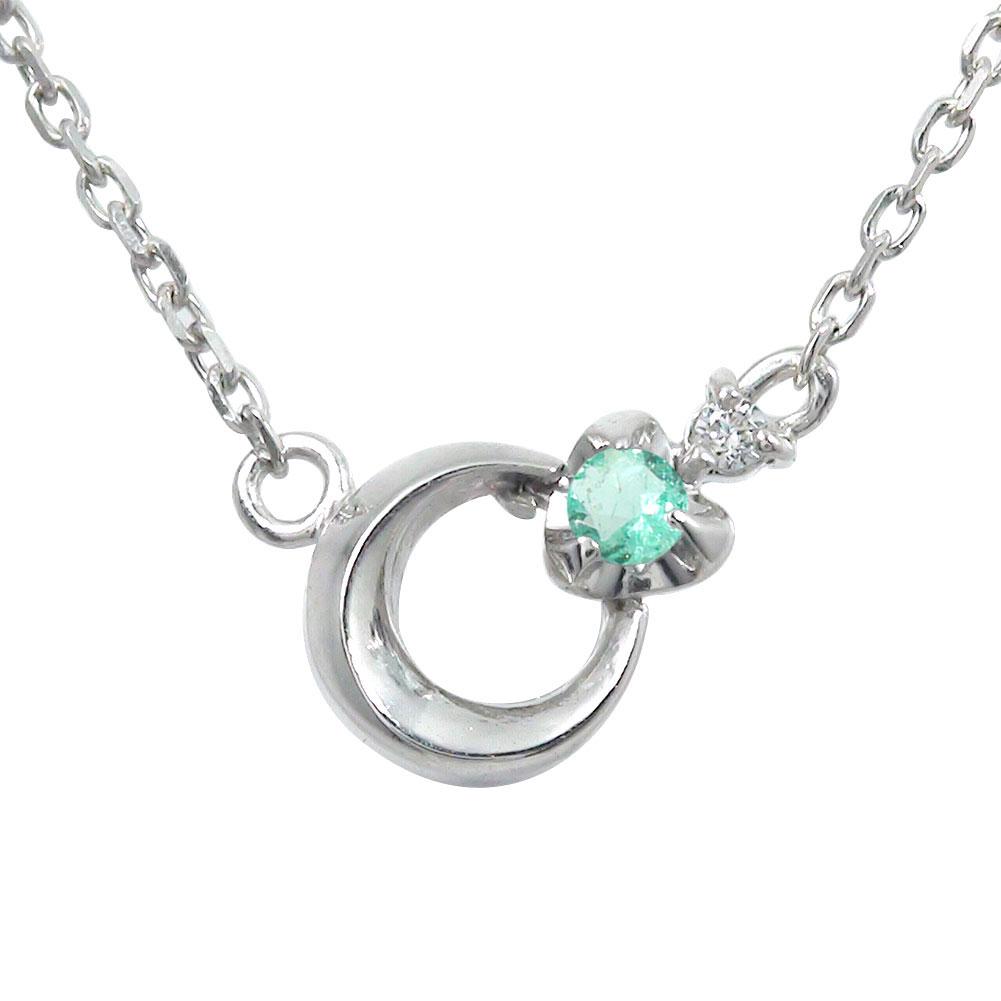 10/4 20時~ プラチナ エメラルド ブレスレット ダイヤモンド カラーストーン 誕生石 月 流星 モチーフ 送料無料 買い回り 買いまわり