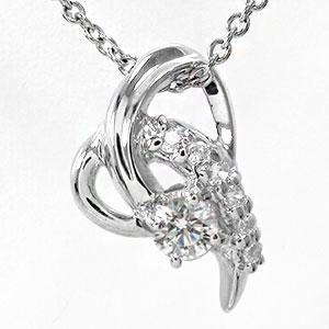 【送料無料】絆 ダイヤモンド 流れ星 ネックレス ハート プラチナ ペンダント 誕生石 チャーム pt900 プレゼント ギフト 母の日 4月 誕生石