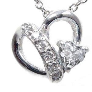 【送料無料】ダイヤモンドネックレス プラチナ 流れ星 オープンハート ペンダント pt900 プレゼント ギフト 母の日 4月 誕生石