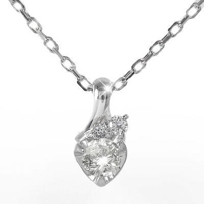 【送料無料】プラチナ ハートネックレス ダイヤモンド 流れ星 一粒ペンダント チャーム pt900 プレゼント ギフト 母の日 4月 誕生石