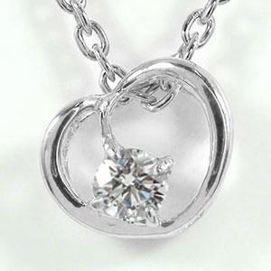 9日20時~16日1時まで プラチナ ハート ネックレス ダイヤモンド 誕生石 一粒ペンダント pt900 プレゼント ギフト 母の日 4月 誕生石 キャッシュレス ポイント還元 買いまわり 買い回り