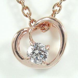 4月1日0時~23時まで 【送料無料】ハートネックレス ダイヤモンド 18金 誕生石 一粒ペンダント ゴールド GOLD プレゼント ギフト 母の日 4月 誕生石