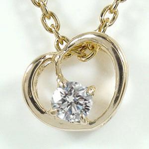 【送料無料】ネックレス ハート ダイヤモンド 誕生石 ペンダント 10金 ゴールド GOLD プレゼント ギフト 母の日 4月 誕生石
