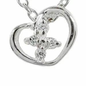10/4 20時~ ダイヤモンド ハート クロス ネックレス プラチナ900 ペンダントチャーム pt900 プレゼント ギフト 母の日 4月 誕生石 買い回り 買いまわり