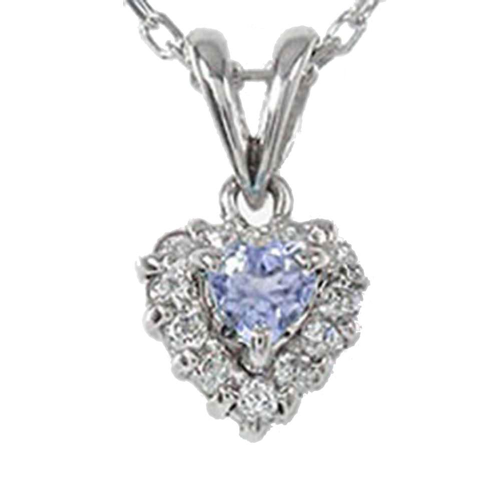 【送料無料】タンザナイト ハートネックレス プラチナ900 ダイヤモンド ペンダント 取り巻き チャーム pt900 プレゼント ギフト 母の日 12月 誕生石