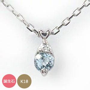 しずく 誕生石 ネックレス 10金 ハート 優しい ペンダント【送料無料】