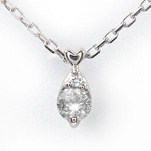 【送料無料】しずく ダイヤモンド ネックレス 10金 ハート 優しい ペンダント ゴールド GOLD プレゼント ギフト 母の日 4月 誕生石