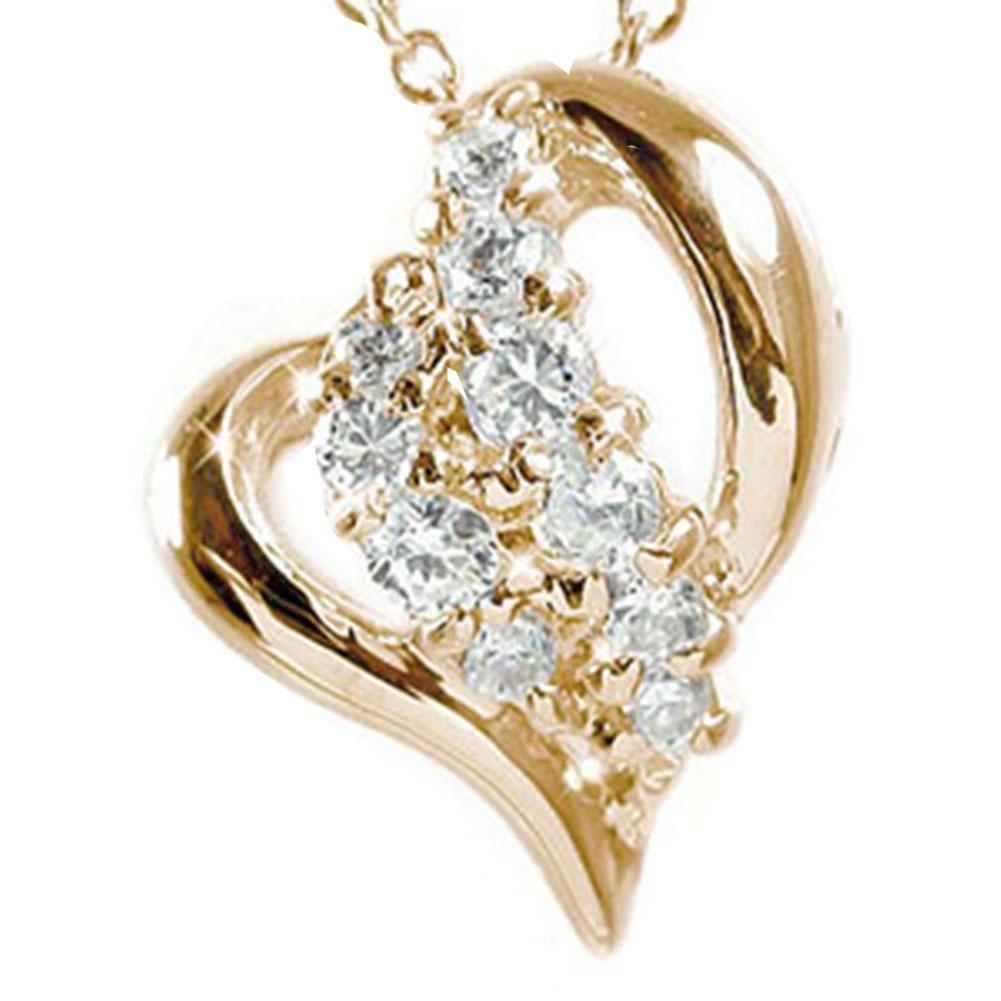 21日20時~28日1時まで 【送料無料】ダイヤモンド ネックレス k10ピンクゴールド ハート ペンダント 0 20ct 星 スター ギフト 記念日 母の日 プレゼント誕生日プレゼント 大切な方に 4月 誕生石 買いまわり 買い回り