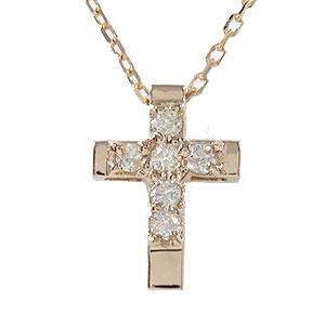 【送料無料】ダイヤモンド メンズ クロス ネックレス 18金 ペンダント ブラックダイヤモンド ゴールド GOLD プレゼント ギフト 4月 誕生石父の日