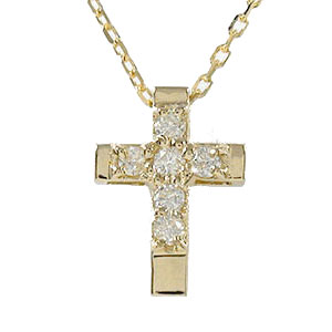 【送料無料】クロス ダイヤモンド ネックレス メンズ 10金 ペンダント ブラックダイヤモンド ゴールド GOLD プレゼント ギフト 4月 誕生石父の日