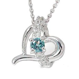 10/4 20時~ ブルートパーズ ハートネックレス k10ホワイトゴールドダイヤモンド 流れ星 スター チャーム レディース 誕生日 2019 記念日 母の日 プレゼント エトワール 11月 誕生石 買い回り 買いまわり