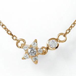 10/4 20時~ 誕生石 ネックレス ダイヤモンド 10金 流れ星 プチペンダント 星 カラーストーン 送料無料 買い回り 買いまわり
