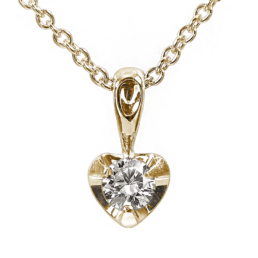 5月16日1時まで 【送料無料】ダイヤモンド ハート ネックレス k18イエローゴールド一粒 ペンダント レディース ユニセックス 誕生日 2017 記念日 贈り物 母の日 プレゼント ギフト Coeur クール ご入学祝い 4月 誕生石 買いまわり 買い回り