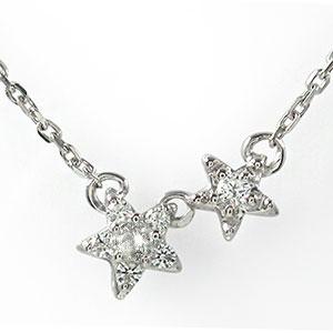 ダイヤモンド ネックレス プラチナ カラーストーン 誕生石 流れ星 ペンダント【送料無料】