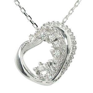 ダイヤモンド ネックレス プラチナ ダイヤモンド カラーストーン ハート 誕生石 美しい モチーフ ペンダント チャーム 送料無料