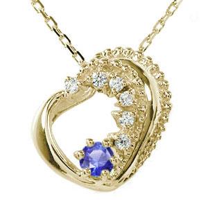10/4 20時~ ハート 誕生石 ネックレス サファイア 10金 プチペンダント 美しい モチーフ ダイヤモンド カラーストーン チャーム 送料無料 買い回り 買いまわり