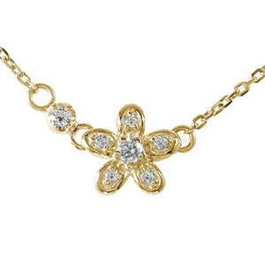 10/4 20時~ 誕生石 ネックレス ダイヤモンド 10金 華 流れ星 プチペンダントカラーストーン 送料無料 買い回り 買いまわり