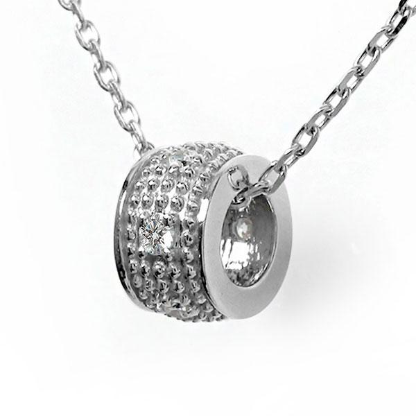 10/4 20時~ ダイヤモンド ネックレス プラチナ ダイヤモンド カラーストーン ミルグレイン 誕生石 千の粒 バレル モチーフ ペンダント チャーム 送料無料 買い回り 買いまわり