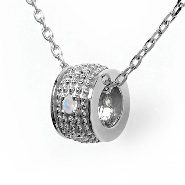 10/4 20時~ ブルームーンストーン ネックレス プラチナ ダイヤモンド カラーストーン ペンダント ミルグレイン 誕生石 チャーム 送料無料 買い回り 買いまわり