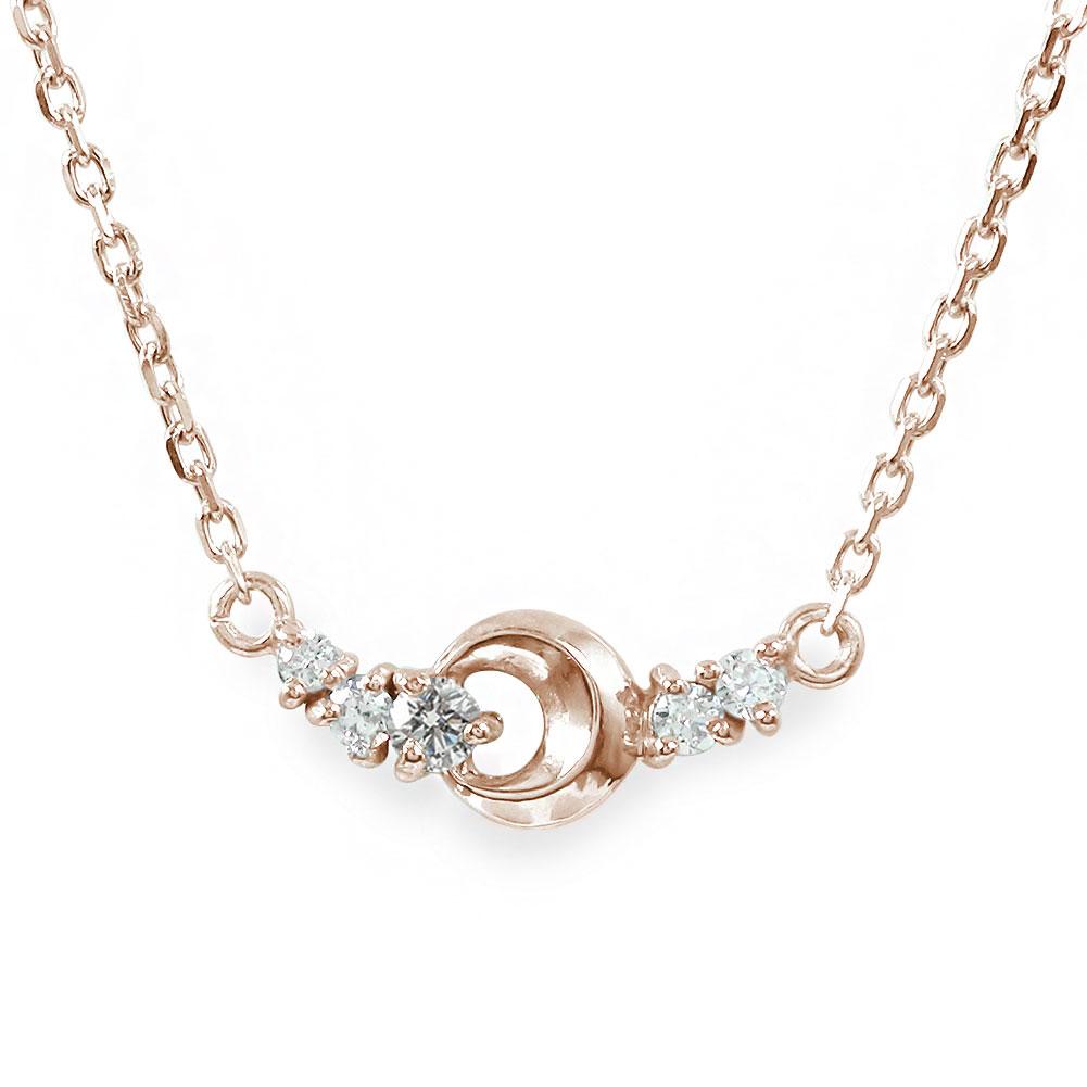 5月16日1時まで ネックレス ダイヤモンド 誕生石 月 流星 18金 カラーストーン ペンダント【送料無料】 買いまわり 買い回り