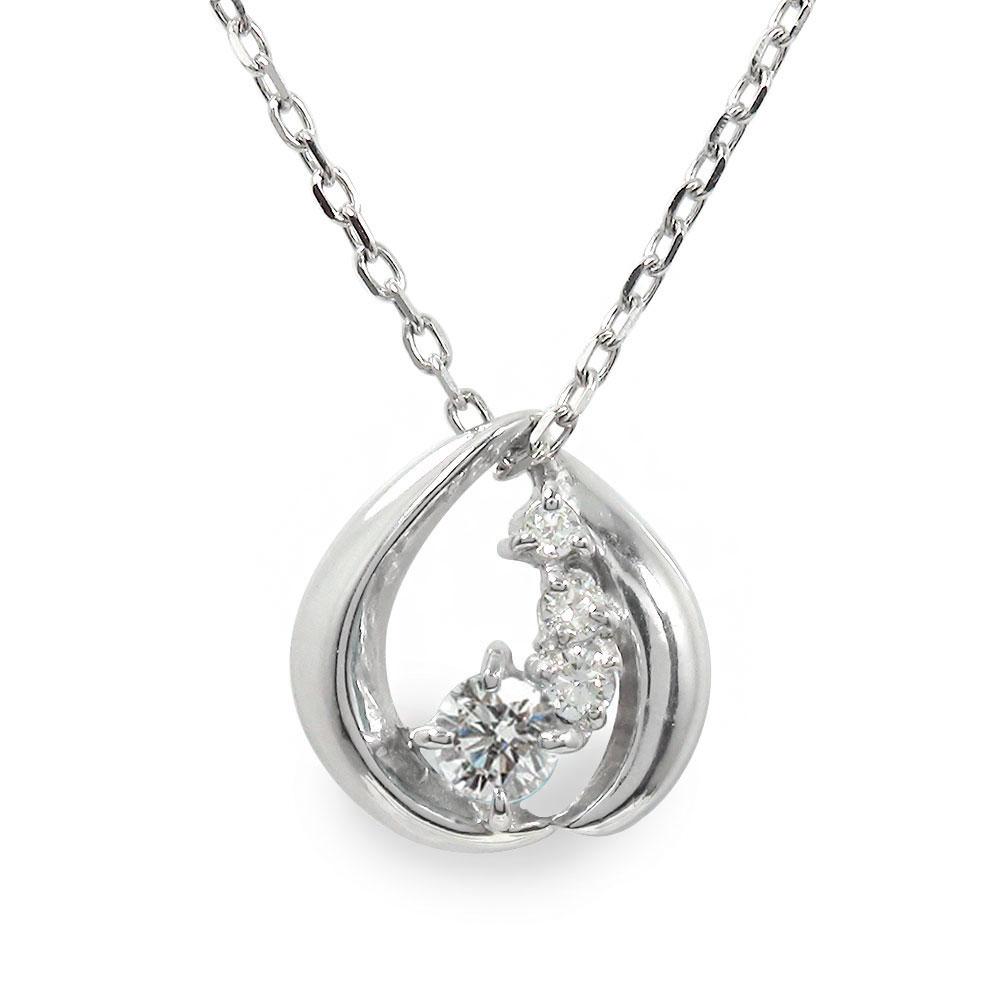 ダイヤモンド ネックレス プラチナ ダイヤモンド カラーストーン 誕生石 ペンダント【送料無料】