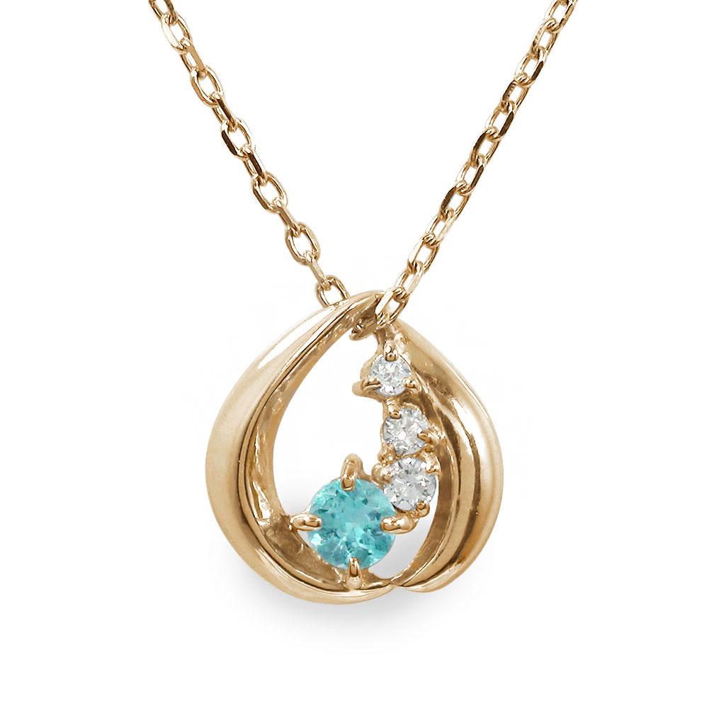 10/4 20時~ 誕生石 ネックレス ブルートパーズ ダイヤモンド カラーストーン 10金 プチペンダント 送料無料 買い回り 買いまわり