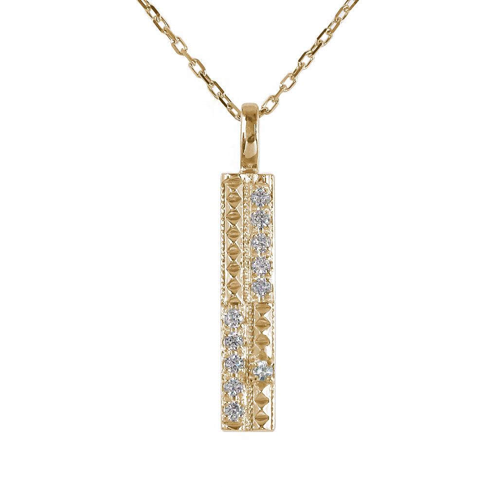 ネックレス ダブル ライン ネックレス ダイヤモンド 10金 k10 10k ペンダント ジュエリー ダイヤモンド カラーストーン レディース 送料無料 キャッシュレス ポイント還元