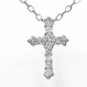 クロスネックレス18金ダイヤモンド0.10ctアンティークダイヤモンドペンダントチャームレディースユニセックス誕生日2019記念日贈り物母の日プレゼントギフトChouetteシュエットゴールドGOLD4月誕生石