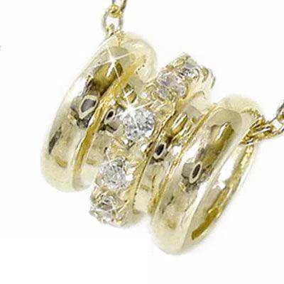5月16日1時まで 【送料無料】ダイヤモンド ネックレス チャーム k18イエローゴールド ペンダント バレル レディース ユニセックス 誕生日 2017 記念日 母の日 プレゼント 首飾り 4月 誕生石 買いまわり 買い回り
