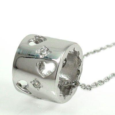 【送料無料】ダイヤモンド ネックレス 18金 ハート ダイヤモンドペンダント ユニセックス 誕生日 2017 記念日 母の日 プレゼント ゴールド GOLD 4月 誕生石