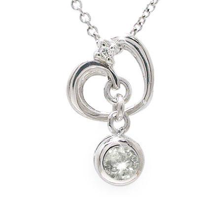 【送料無料】ダイヤモンド ハート ネックレス チャーム ペンダント k10ホワイトゴールドレディース ユニセックス 誕生日 2017 記念日 母の日 プレゼント 4月 誕生石