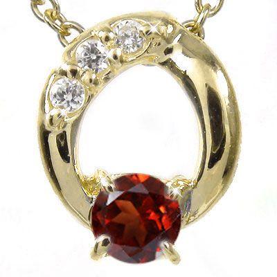 【ポイント5倍 2日20時~9日1時迄】【送料無料】ガーネット ネックレス チャーム K10イエローゴールド ダイヤモンド オーバル ギフト 贈り物プレゼント プレゼント 自分へのご褒美に 大切な方に 1月 誕生石 買いまわり 買い回り