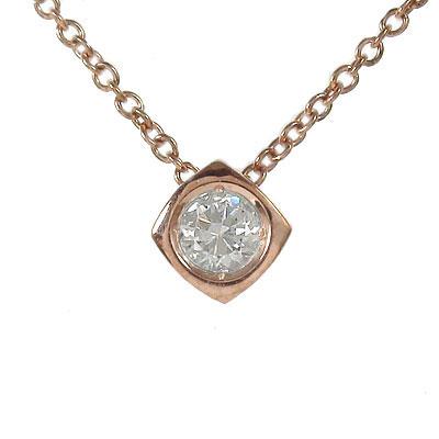 5月16日1時まで 【送料無料】ダイヤモンド ネックレス k18ホワイトゴールド k18PG k18YG 一粒 四角 0.10ct レディース誕生日 2017 記念日 母の日 プレゼント 首飾り 4月 誕生石 買いまわり 買い回り