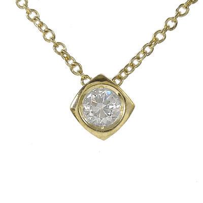 10/4 20時~ ダイヤモンド ネックレス k10ホワイトゴールドk10PG k10YG 一粒 四角 0.10ct ユニセックス 誕生日 2019 記念日 母の日 プレゼント 首飾り 4月 誕生石 買い回り 買いまわり