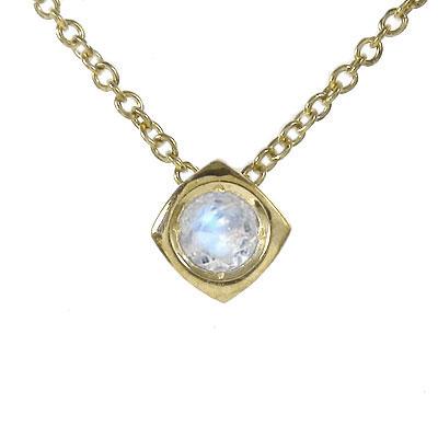 10/4 20時~ ブルームーンストーン ネックレス k10ホワイトゴールドk10PG k10YG 一粒 四角 ユニセックス 誕生日 2019 記念日 母の日 プレゼント 首飾り 6月 誕生石 買い回り 買いまわり