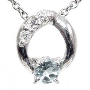 5月16日1時まで 【送料無料】アクアマリン ネックレス k18ホワイトゴールド ダイヤモンド オーバル レディース ユニセックス 誕生日 2017 記念日 母の日 プレゼント 3月 誕生石 買いまわり 買い回り