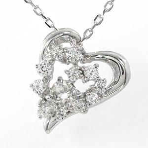 【送料無料】ダイヤモンド ハート 流れ星 ネックレス プラチナ 美しい 誕生石ペンダント チャーム pt900 プレゼント ギフト 母の日 4月 誕生石