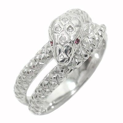 シルバー925 蛇 指輪 新品 送料無料 ルビー スネーク ご入学 卒業式 スピード対応 全国送料無料 ダイヤモンド 送料無料 入社式 お祝い