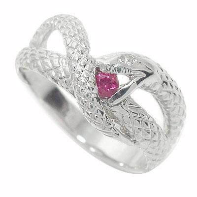 21日20時~28日1時まで ルビー 蛇 指輪 リング ダイヤモンド スネーク プラチナ900【送料無料】 買いまわり 買い回り