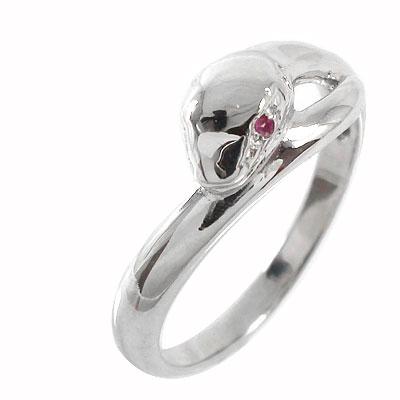 21日20時~28日1時まで 蛇 指輪 ルビー スネーク ピンキーリング プラチナ900【送料無料】 買いまわり 買い回り