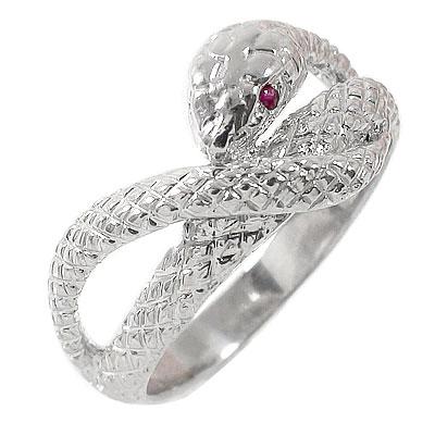 【あす楽対応商品】蛇 指輪 ルビー シルバー925 スネーク ピンキーリング ギフト 記念日 母の日 プレゼント 誕生日プレゼント 大切な方に【送料無料】