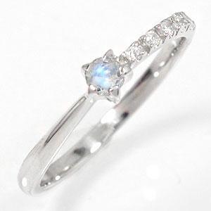 プラチナリング 流れ星 ブルームーンストーン 指輪 ピンキーリング ギフト 贈り物 母の日 プレゼント 誕生日 自分へのご褒美に【送料無料】