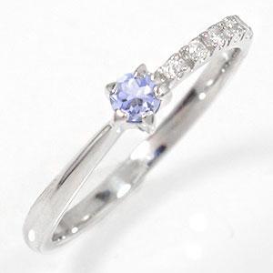 10/4 20時~ ピンキーリング タンザナイト 10金 指輪 一粒 流れ星 ダイヤモンド 送料無料 買い回り 買いまわり