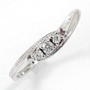 10/4 20時~ スリーストーンリング ダイヤモンド 指輪 ピンキー 誕生石 10金 トリロジーリング 送料無料 買い回り 買いまわり